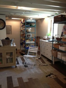 """Our """"beautiful"""" new basement, torn up to find the world's most irritating leak."""